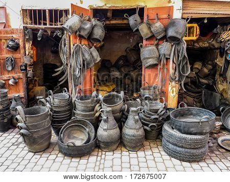 Recycled Tires At A Market