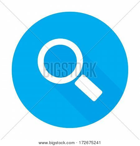 search icon with long shadow. Vector illustration