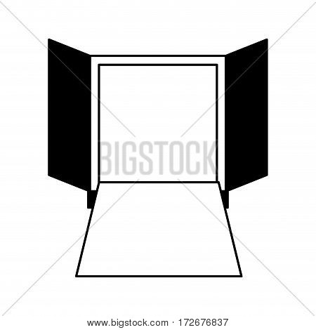 delivery truck back door vector illustration design