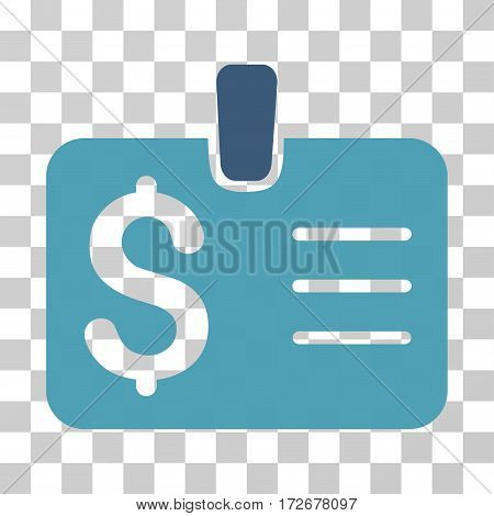Dollar Badge icon. Vector illustration style is flat iconic bicolor symbol cyan and blue colors transparent background. Designed for web and software interfaces.