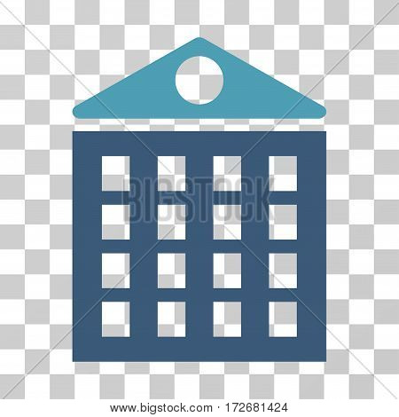 Multi-Storey House icon. Vector illustration style is flat iconic bicolor symbol cyan and blue colors transparent background. Designed for web and software interfaces.