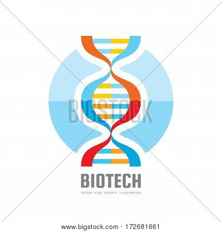 DNA BioTechnology - vector logo template concept illustration. Medical science creative symbol. Human biological genetic code structure. Design element.