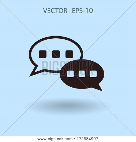 Flat  icon of a communication. vector illustration