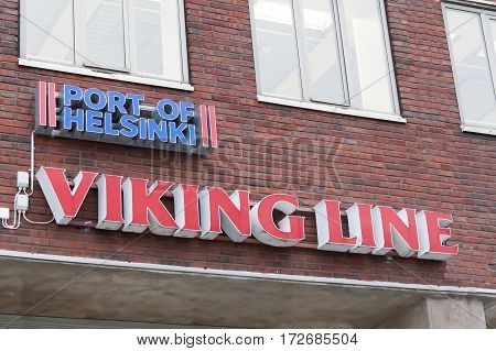 Helsinki, Finland - October 25 : Terminal Facility Of The Ferry Company Viking Line In Helsinkii , F