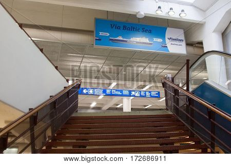 Helsinki, Finland - October 27 : Terminal Facility Of The Ferry Company Peter Line In Helsinkii , Fi
