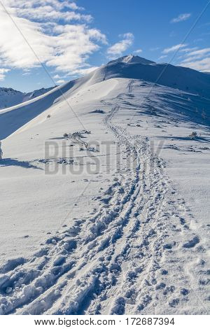 Winter Trail To The Summit.