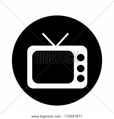 an images of Or pictogram Retro TV icon