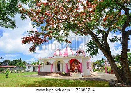 Hindu Temple In Port Louis, Mauritius