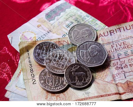 Mauritius Rupee Notes And Coins