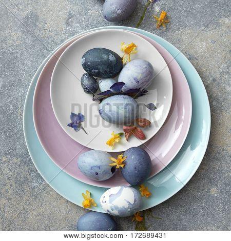 Blue easter eggs.