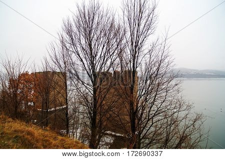 XV century fortress. Tri-Kule on the Danube Clisura