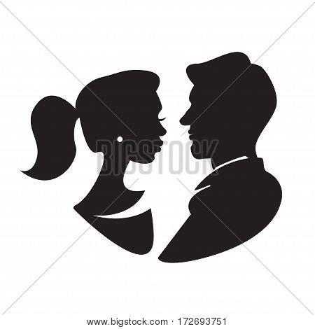 Man Woman Face Vector Photo Free Trial Bigstock