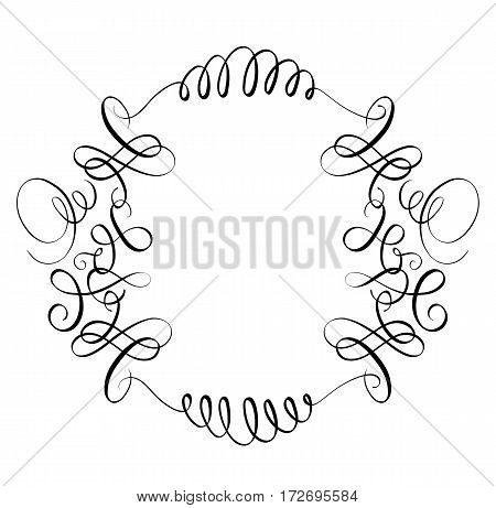 elements of vintage flourish set decorative whorls for design. Calligraphy Vector illustration EPS10.