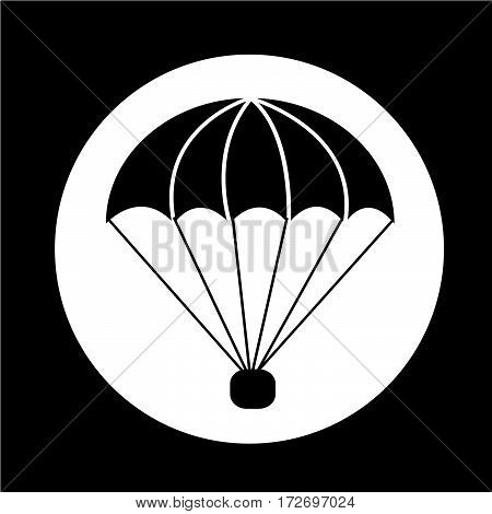 an images of Or pictogram parachute icon poster