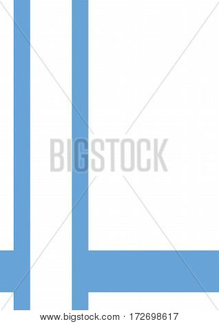Business cover. Typographical vector design A4. Vertical rectangular. Simple geometric style Blue lines on a light background