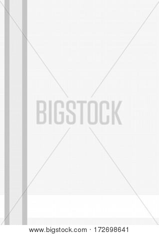 Business cover. Typographical vector design A4. Vertical rectangular. Simple geometric style Gray lines on a light background