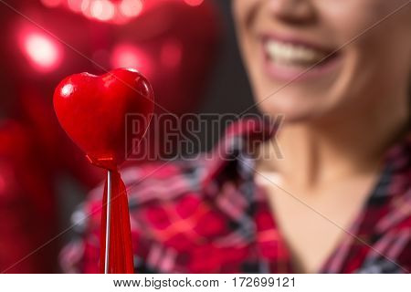 love concept-red heart love cute close up