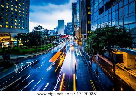 urban traffic with cityscape in Nanchang,China .