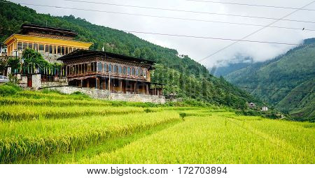 Traditional Houses In Thimphu, Bhutan