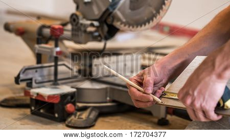 Male Boards, And Miter Saw
