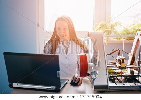 Woman Designing Prototype For 3D Printing