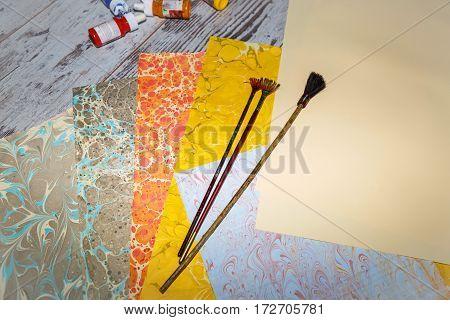 Materials For Manufacture Ebru Close-up 1