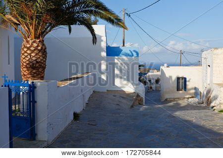 Village of Panagia on Iraklia island in Lesser Cyclades, Greece.