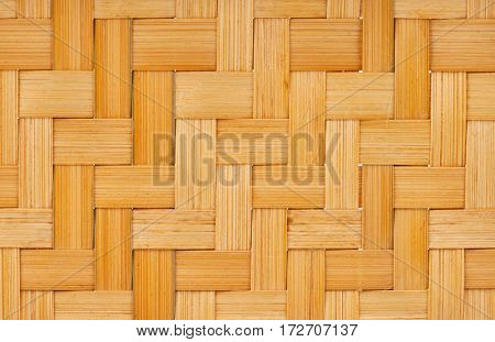 Wicker pattern â?? abstract yellow wooden natural background