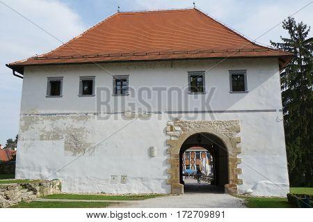 The castle of Stari Grad in Varazdin, Croatia. Watchtower