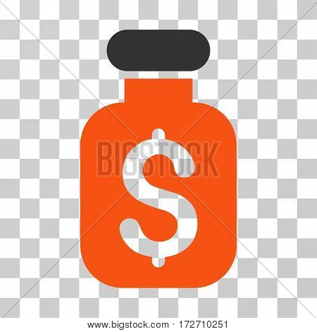 Business Remedy icon. Vector illustration style is flat iconic bicolor symbol orange and gray colors transparent background. Designed for web and software interfaces.