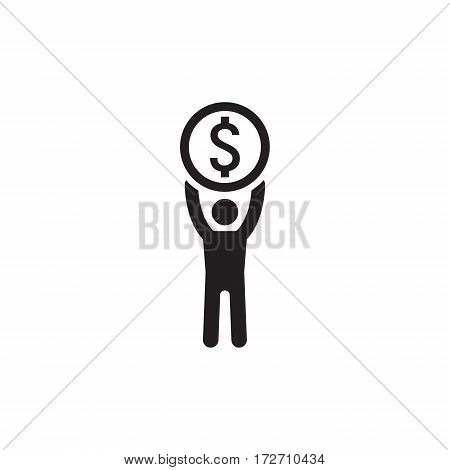 Achievement Icon. Business Concept. Flat Design. Isolated Illustration.