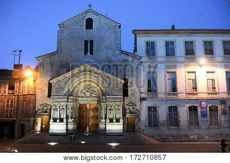 The Cathedral Of St. Trophime At Arles On France