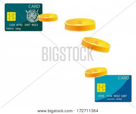 Translation of the money with one bank card on another