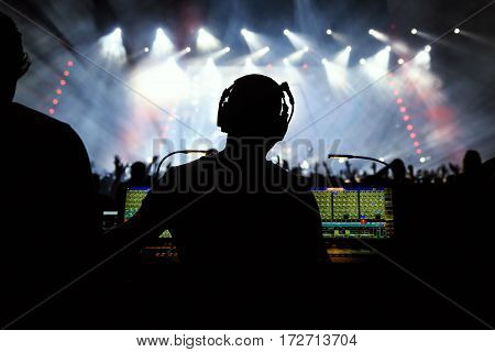 Sound Manager On Rock Concert