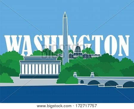 Image of washington dc city and its capitol