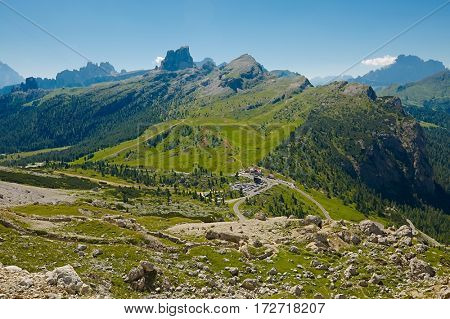 High mountain landscape in the Dolomites