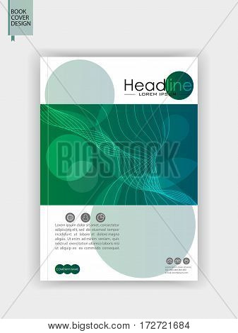 Book cover. A4. Good for journals banners conference flyer website business forum annual report. Vector illustration. Cover template design.