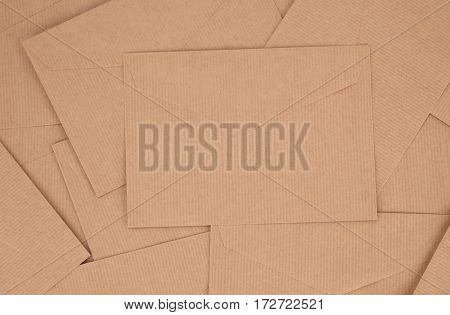 Craft paper vintage envelopes pile