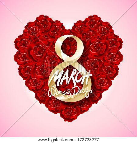 Vector Modern Valentines Day Or 8 March Background. Mothers Day. Greeting Card. International Womans