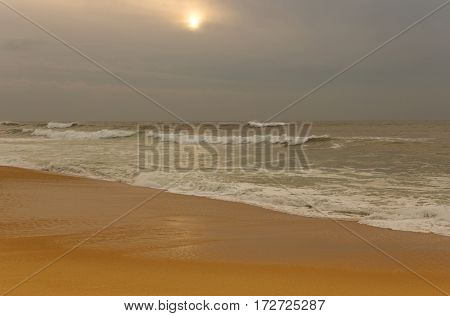 Beach near Oporto, in the north of Portugal