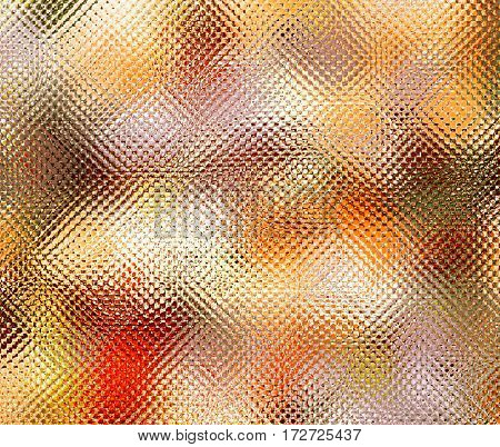 Textured blurred background in bright colors. Simulate patterned colored glass. Horizontal location.