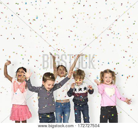 Children Smiling Happiness Friendship Celebration