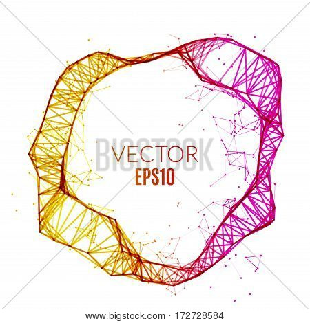 Abstract technology polygonal circle. Futuristic network concept. Creative banner.
