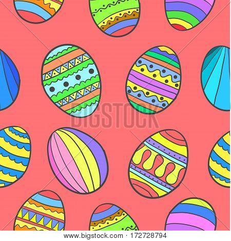 Doodle of easter egg design cartoon vector art