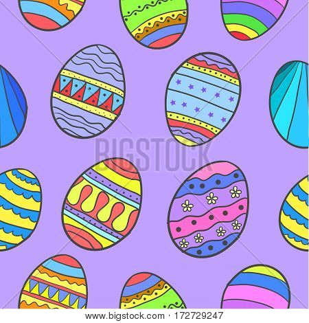 Collection stock of easter egg doodles vector art