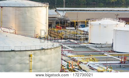 Industrial oil in petrochemical for background .