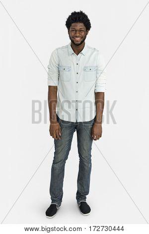 People Man Full Body Studio Shoot Concept