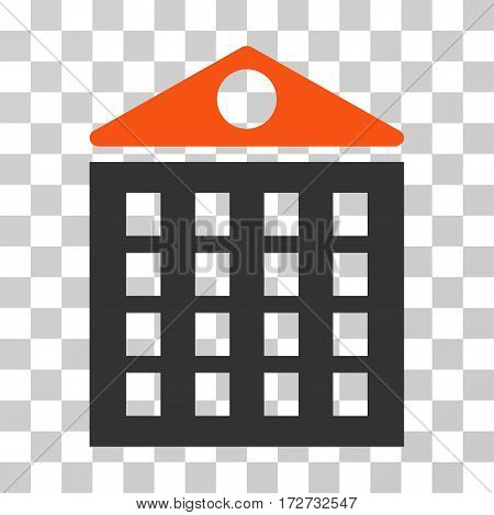 Multi-Storey House icon. Vector illustration style is flat iconic bicolor symbol orange and gray colors transparent background. Designed for web and software interfaces.
