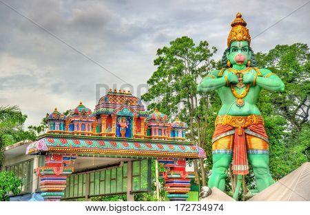 Statue of Hanuman, a Hindu god, at the Ramayana Cave - Batu Caves, Kuala Lumpur, Malaysia