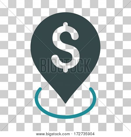 Bank Placement icon. Vector illustration style is flat iconic bicolor symbol soft blue colors transparent background. Designed for web and software interfaces.